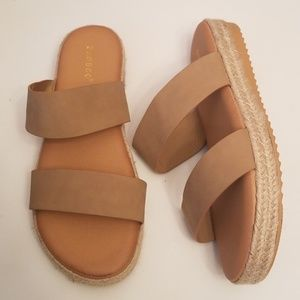 Bamboo Natural Slip On Sandals